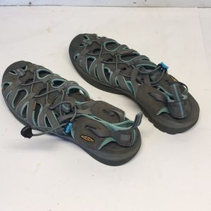 Keen Waterproof Sandals Gray w Aqua trim  Size